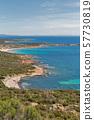 Coastal landscape, Roccapina, Corsica island, 57730819