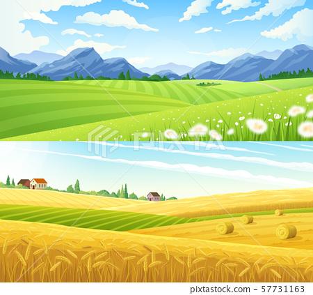 Rural Landscape Horizontal Banners 57731163