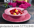 oat flakes with berries 57731946