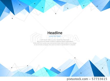 商業背景-藍色三角形 57733615