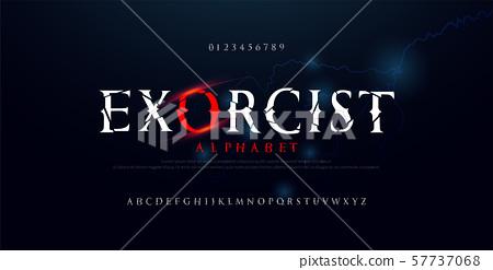Horror scary movie alphabet font. Typography 57737068