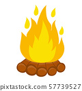 campfire isolated illustration on white background 57739527