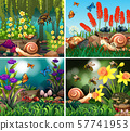 Set of background scene with nature theme 57741953