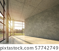 The interior space in the modern loft building with polished concrete 3d render 57742749