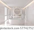 Luxurious white bathroom modern style 3d render 57742752