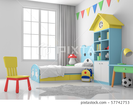Children bedroom 3d render 57742753