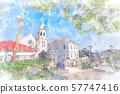 Hokkaido Summer Scene Hakodate Catholic Motomachi Church 57747416