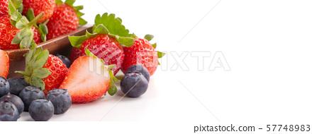 草沙丁魚靛藍水水果樹頭碗脊椎草莓藍莓草莓藍莓 57748983