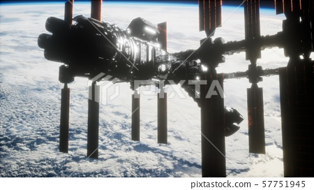 International Space Station in outer space over 57751945