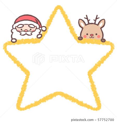聖誕老人馴鹿星框架 57752780