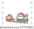 산타 순록 썰매 눈송이 프레임 57752801