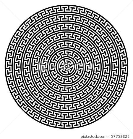Greek key round frame. Greek border. Vector 57752823