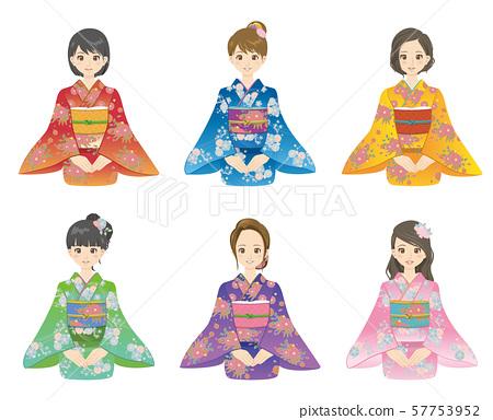 기모노 여성 57753952