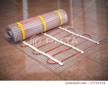 Mat Electric Floor Heating System On