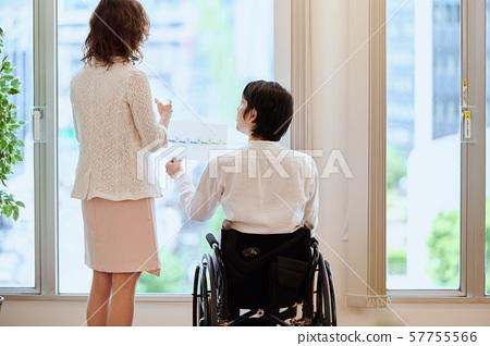 휠체어 커플 57755566