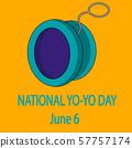 National Yo-Yo Day. June 6. vector poster 57757174