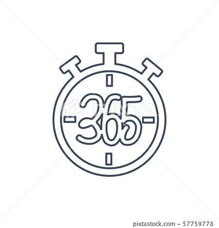 stopwatch 365 infinity logo icon design 57759778