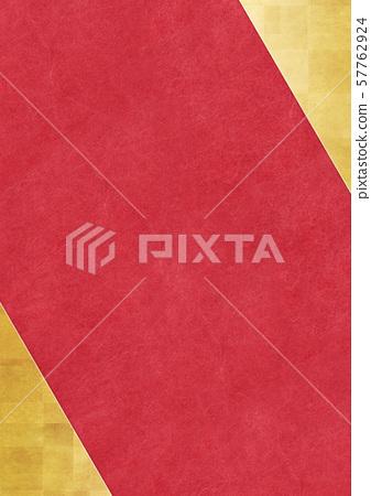 日本紙紅金屏風日式房間背景素材 57762924