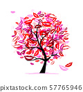 Tree of kisses with lips and smiles for your 57765946