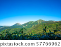 Hiuchiyama and Yakeyama in the blue sky 57766962