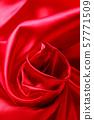 붉은 옷감 드레이프 57771509