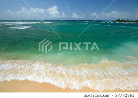 Epic sunset tropical beach in Sri Lanka, dramatic 57772963