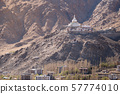 Shanti Stupa on a hilltop in Leh Ladakh 57774010