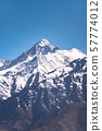 Beautiful snow covered mountains range at Leh 57774012