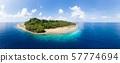 Aerial view tropical beach island reef caribbean 57774694