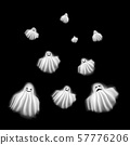 Realistic Detailed 3d Characters Funny Ghosts Set. Vector 57776206