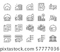 Refinance line icon set. 57777036