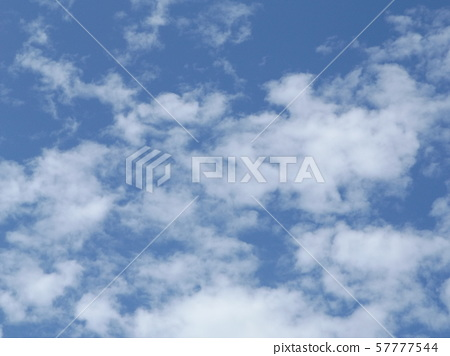 September blue sky and white clouds 57777544