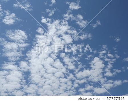 September blue sky and white clouds 57777545