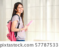 Full length portrait of a beautiful female student 57787533