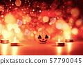 Halloween background candlelight orange decorated 57790045