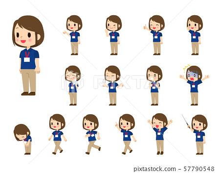 Polo shirt woman-15 poses 57790548
