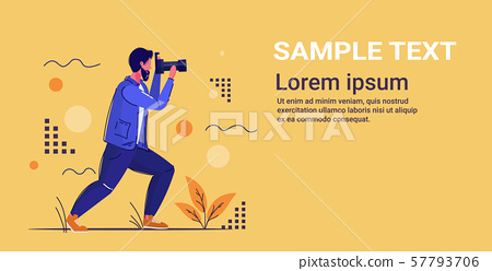 professional photographer taking picture photo man shooting with digital dslr camera full length 57793706