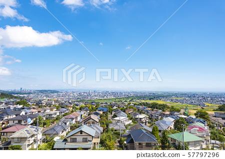 교외에서 바라 보는 거리 풍경 57797296