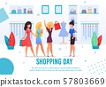 Shopping Day Feminine Friends Tradition Poster 57803669