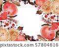 Christmas card with lemons, tangerines 57804616
