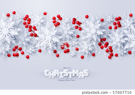 Vector Merry Christmas and New Year background 57807710