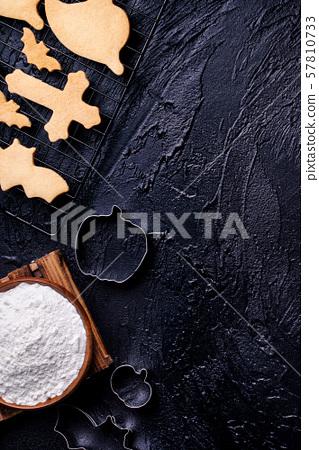 Making Mochi Dried Food Score Manseibushi Ingredients Making cookie recipe Halloween cookie making 57810733