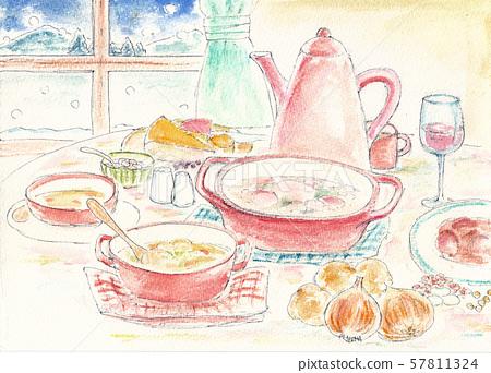 冬季餐桌暖燉 57811324