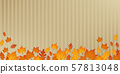 autumn orange and yellow leaves on abstract paper background 57813048