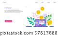 Electronic wallet concept banner, flat style design 57817688