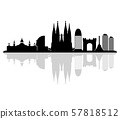 barcelona skyline 57818512