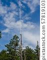 Blue sky and lightning rod 57819103