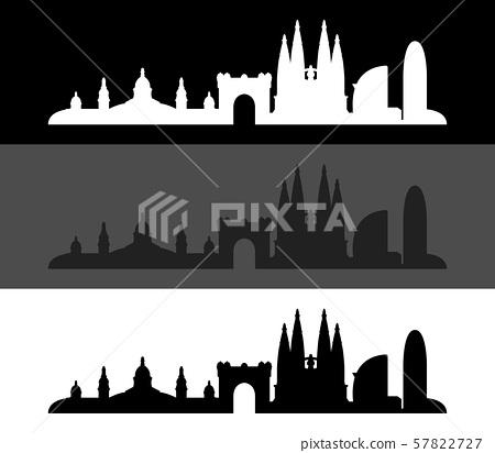 Barcelona skyline 57822727