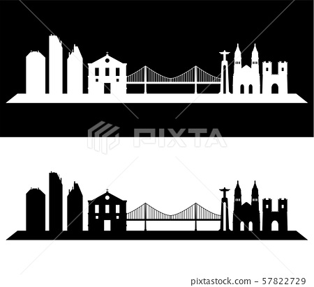 Lisbon skyline 57822729