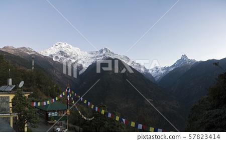 일출,안나푸르나,히말라야,네팔 57823414